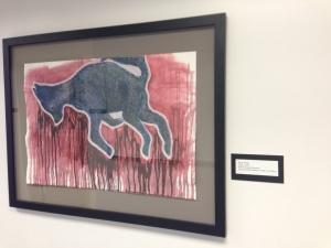 "Kara Tong's piece, titled, ""The Strap"""