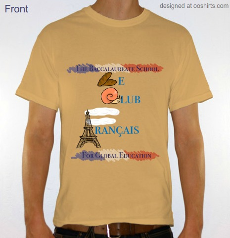 The French Club's new T-Shirt Design