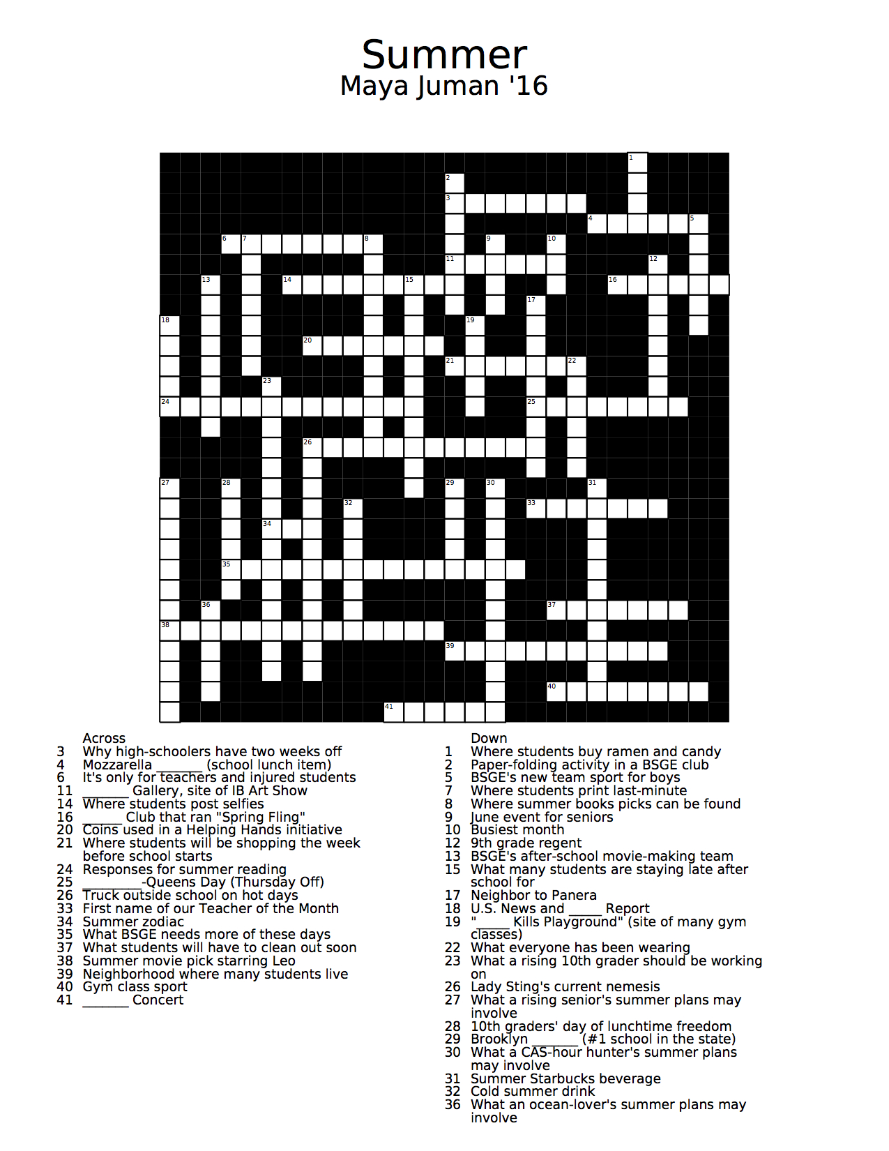 Displaying 20> Images For - Summer Crossword...