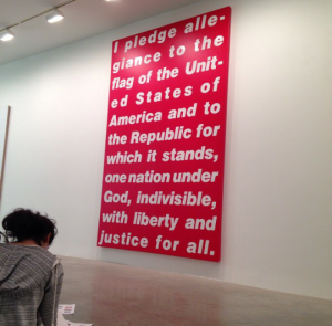 Untitled (Pledge), by Barbara Kruger (photo credit to Alejandra Ruiz '16)