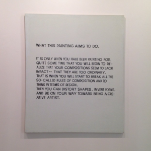 """What This Painting Aims to Do"" by John Baldessari"