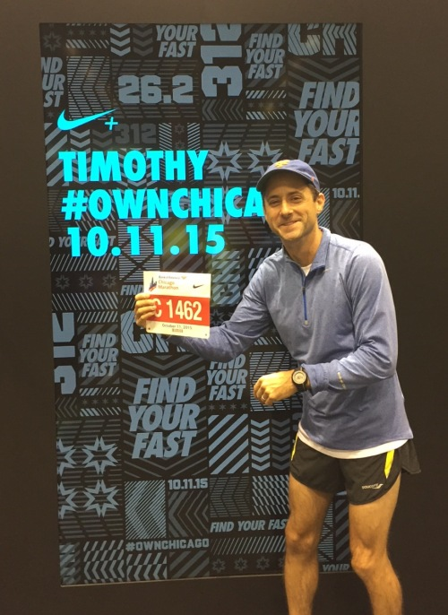 Tim David-Lang at the Chicago Marathon