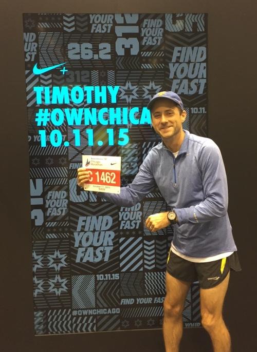 Tim David-Lang at the Chicago Marathon